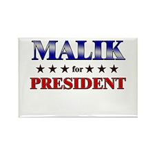 MALIK for president Rectangle Magnet