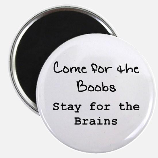 """Boobs & Brains"" 2.25"" Magnet (10 pack)"