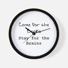 """""""Boobs & Brains"""" Wall Clock"""