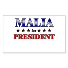 MALIA for president Rectangle Decal