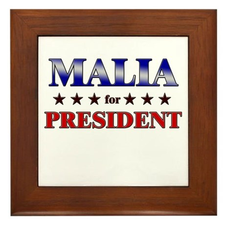 MALIA for president Framed Tile