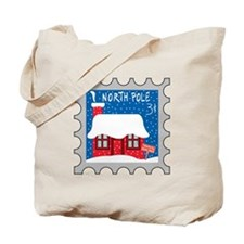 North Pole Stamp Tote Bag