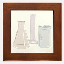 Beakers Framed Tile