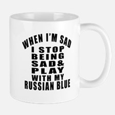 Play With Russian Blue Cat Mug