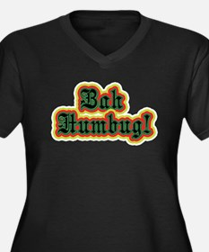 Bah Humbug! Women's Plus Size V-Neck Dark T-Shirt