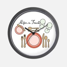 Set For Feast Wall Clock