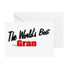 """""""The World's Best Gran"""" Greeting Card"""