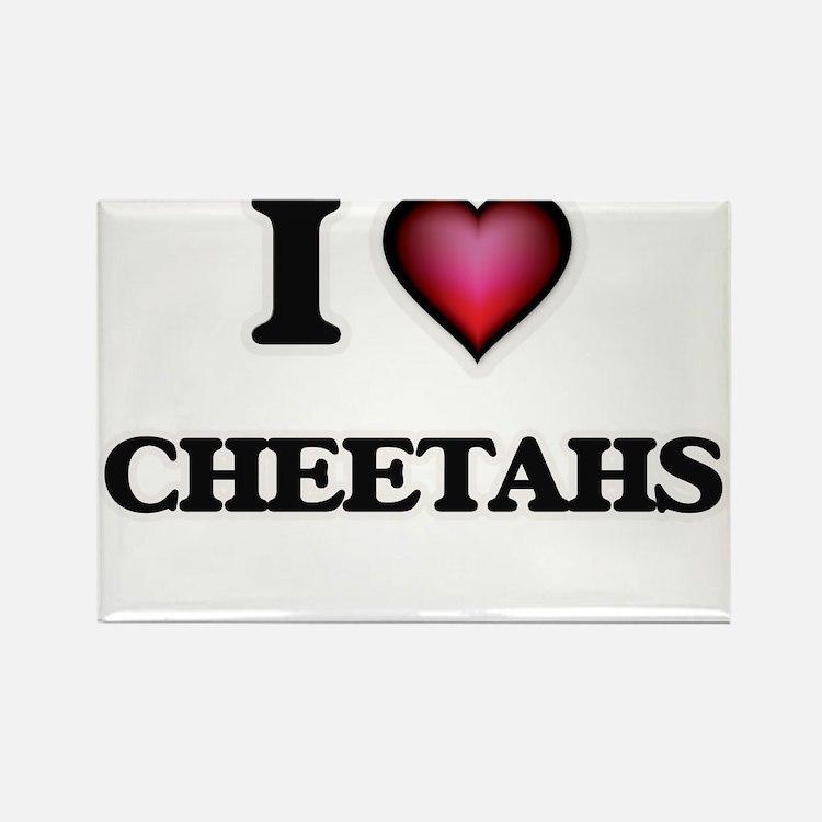 I Love Cheetahs Magnets