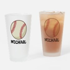 Personalized Baseball Sports Drinking Glass