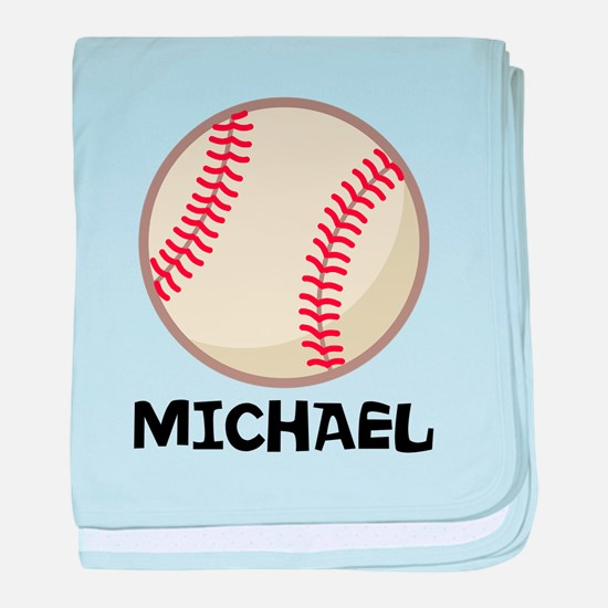 Personalized Baseball Sports baby blanket