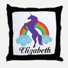 Personalized Unicorn Gift Throw Pillow