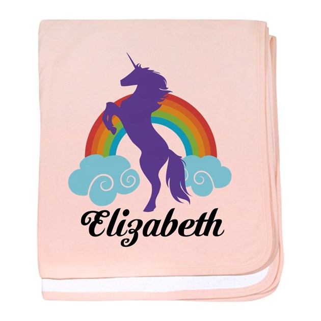 Monogrammed Baby Gifts Australia : Personalized unicorn gift baby blanket by