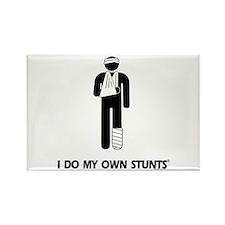 Broken Leg, Arm My Own Stunts Rectangle Magnet
