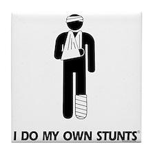 Broken Leg, Arm My Own Stunts Tile Coaster