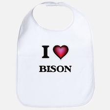 I Love Bison Bib
