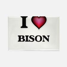 I Love Bison Magnets