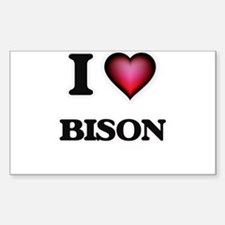 I Love Bison Decal