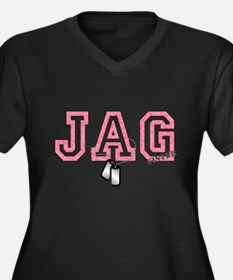 jag sister Women's Plus Size V-Neck Dark T-Shirt