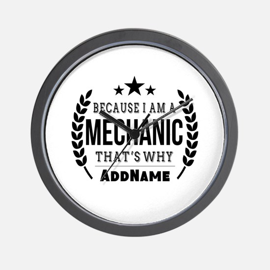 Gifts for Mechanic Personalized Wall Clock