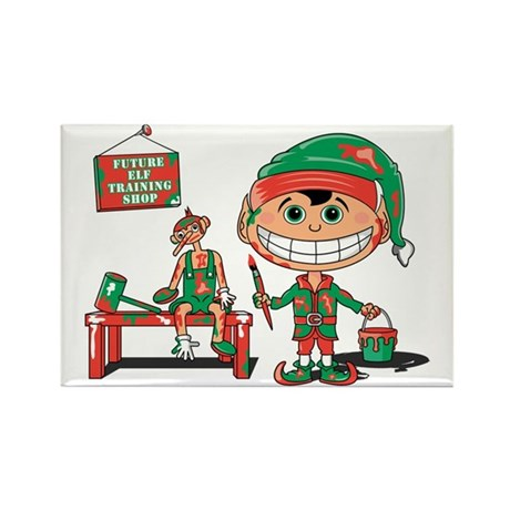 Elf in Training Rectangle Magnet (10 pack)