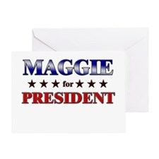 MAGGIE for president Greeting Card