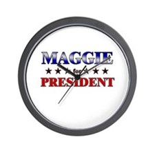 MAGGIE for president Wall Clock