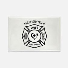 Firefighters Wife Rectangle Magnet