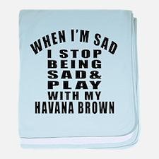 Play With Havana Brown Cat baby blanket