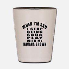 Play With Havana Brown Cat Shot Glass