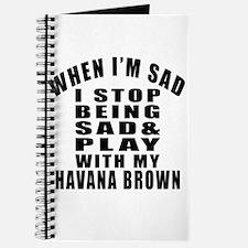 Play With Havana Brown Cat Journal