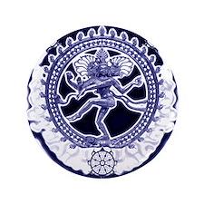 """Unique Shiva Nataraj 3.5"""" Button"""
