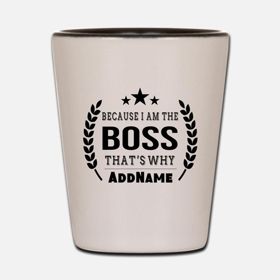 Gifts for Boss Personalized Shot Glass