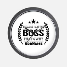 Gifts for Boss Personalized Wall Clock