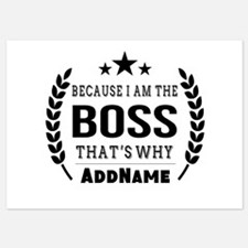 Gifts for Boss Personalized 5x7 Flat Cards