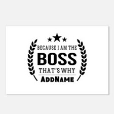 Gifts for Boss Personaliz Postcards (Package of 8)