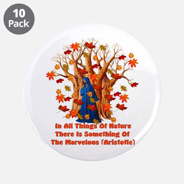 """Autumn Pagan Goddess 3.5"""" Button (10 pack)"""