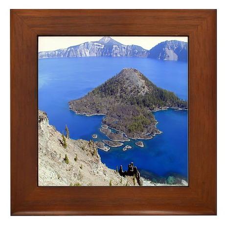 Wizard Island Framed Tile