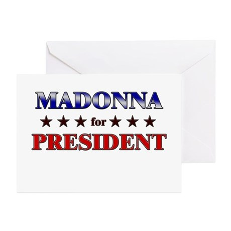 MADONNA for president Greeting Cards (Pk of 20)