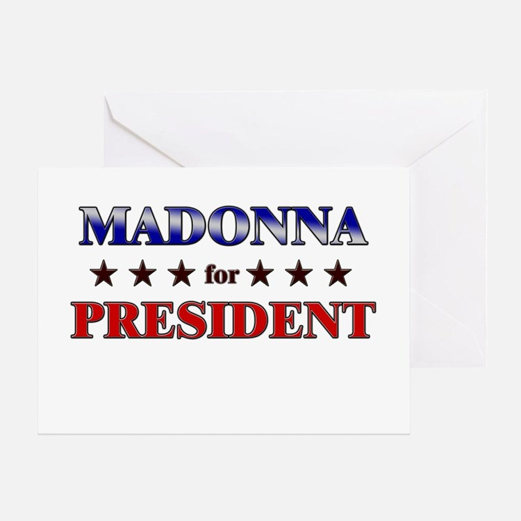 MADONNA for president Greeting Card