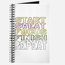 Start Sweat Focus Finish Repeat Journal