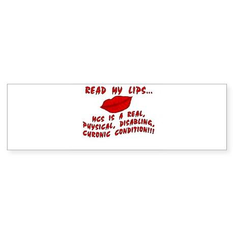 Read My Lips Bumper Sticker
