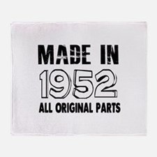 Made In 1952 Throw Blanket