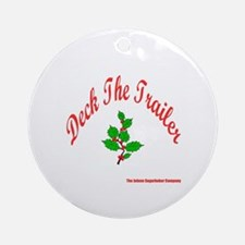 Deck The Trailer Ornament (Round)