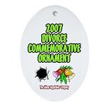 2007 Divorce Commemorative Oval Ornament