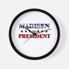 MADISEN for president Wall Clock