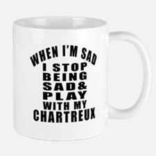 Play With Chartreux Cat Small Small Mug