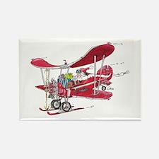 Santa Biplane Rectangle Magnet (10 pack)
