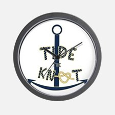 Tide the knot Wall Clock