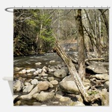 Smoky Mountains Stream Shower Curtain