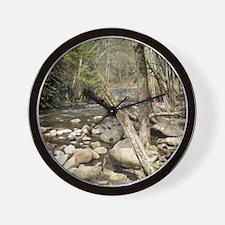 Smoky Mountains Stream Wall Clock